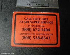 Atari phone Numbers